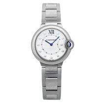 Cartier Ballon Bleu Silver Diamond Dial Ladies Watch