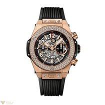 Hublot Big Bang 45mm Unico 18K King Gold Diamonds Men`s Watch