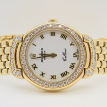 Rolex Cellini 18k Yellow Gold Aftermarket Diamond Set Ref. 6621