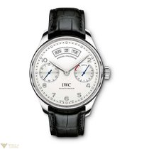 IWC Portuguese Annual Calendar Stainless Steel Silver Men`s Watch