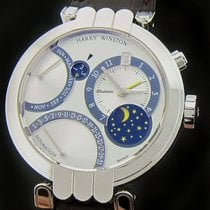 Harry Winston White Gold Premier Excenter Perpetual Calendar...