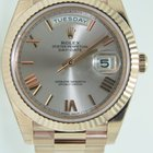 Rolex Day-Date 40 Latest model,Rose gold rose roman dial