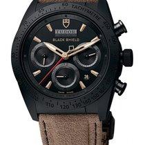 Tudor Fastrider Blackshield Black Dial Alcantara Leather Strap...