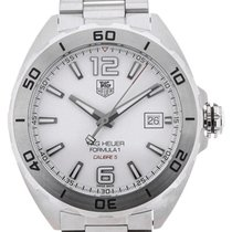 TAG Heuer Formula 1 Automatic 41 Steel White Dial Calibre 5
