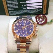 Rolex Daytona  Stahl Gold Blue Arabic Dial