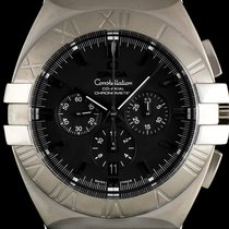 オメガ (Omega) S/S Black Chrono Dial Constellation Double Eagle...