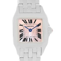 Cartier Santos Demoiselle Pink Mop Dial Steel Ladies Watch...
