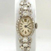 Hamilton Ladies Vintage 14k White Gold Hamilton 1 1/4ct...