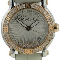 Chopard Happy Sport 18k Rose Gold & Stainless Diamond...