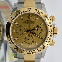Rolex 116503 Daytona Yellow Gold 18k & Steel Box Papers...