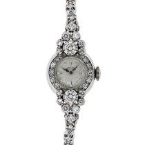 Hamilton Gold 2ctw Diamond Antique Ladies Watch