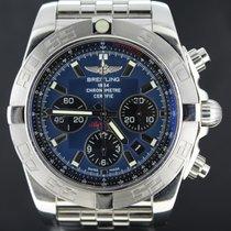 百年靈 (Breitling) Chronomat 44MM Steel With Blue Dial, Full Set...