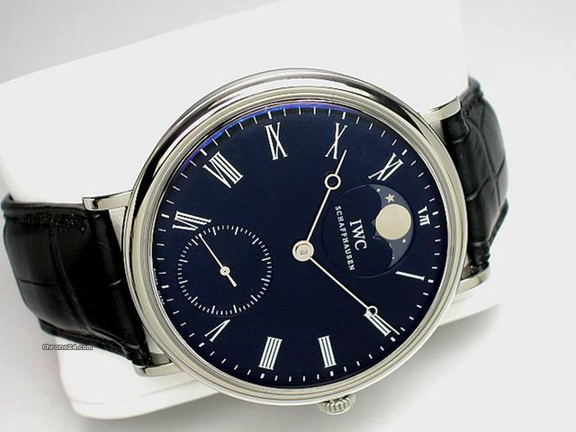 IWC &amp;#34;PORTOFINO HANDAUFZUG&amp;#34; - Edelstahl-Lederband