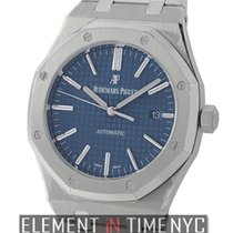 Audemars Piguet Royal Oak Stainless Steel 41mm Blue Dial...