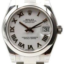 Rolex Datejust 178240 Ladies 31mm White Roman Stainless Steel...