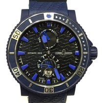 Ulysse Nardin Maxi Marine Diver Vulcanized Rubber Blue Sea...