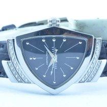 Hamilton Damen Uhr Quartz 25mm Brillianten Rar Schöner Zustand
