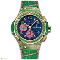 Hublot Big Bang 41 mm Green Apple 18K Yellow Gold Rubber...
