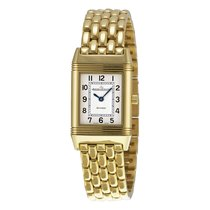 Jaeger-LeCoultre Reverso White Dial 18kt Yellow Gold Ladies