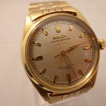 Rolex Oyster Perpetual 6564 14K RARE 2-Step Honeycomb Dial