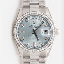 Rolex Day-Date 36 Watch: Platinum with diamond set bezel 118346