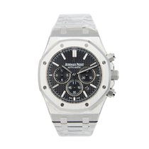 Audemars Piguet New  Royal Oak Stainless Steel Black Automatic...