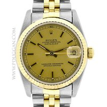 Rolex stainless steel and 18k yellow gold mid-size Datejust