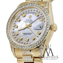Rolex Presidential Day Date Pearl Diamond String W/ Solid 18k...