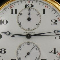 Longines Pocket Watch 18 Kt Gold Chronograph