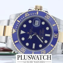 Rolex submariner 116613 116613LB STEEL GOLD blue blu nuovo new