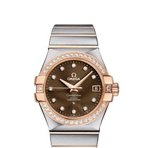 Omega [NEW] CONSTELLATION CO-AXIAL 35mm RED GOLD ON STEEL