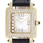 Chopard Happy Sport 7-Floating Diamonds Yellow Gold Square...