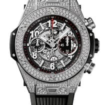 Hublot Big Bang Unico Titanium Skeleton Rubber Automatic...