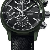 Maurice Lacroix Pontos S Extreme Black Dial Leather Mens Watch...
