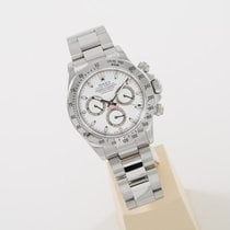 Rolex Daytona Stahl white dial perfect condition box and papers
