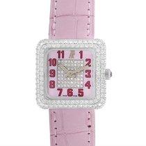 Audemars Piguet Diamond Pave Pink Dial Ladies Watch 67432BCZZA...