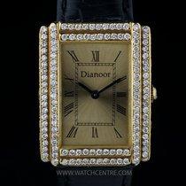 Dianoor 18k Yellow Gold Diamond Set Bezel & Case Ladies...