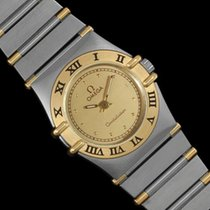Omega Ladies Constellation Mini 22mm Watch, 18K Gold &...