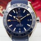 Omega Seamaster Planet Ocean GMT 600M Co-Axial Blue Dial Ti