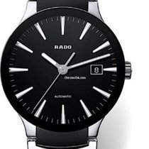 Rado Men's Centrix Black Dial and Ceramic Watch