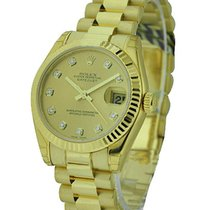 Rolex Unworn 178278 Midsize 31mm Datejust in Yellow Gold -...