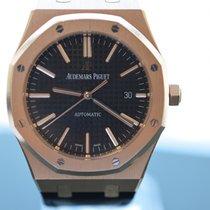 Audemars Piguet Royal Oak Classic Black Dial w/ Leather Strap...