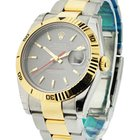 Rolex Used Mens 2 Tone Turn O Graph Steel and Yellow Gold