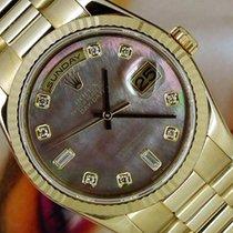 Rolex Day Date, Ref. 118238 - schwarz MOP Diamant ZB/Präsident...