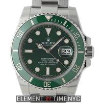 Rolex Submariner Stainless Steel Ceramic Green Dial 40mm Hulk...