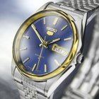 Seiko 5 Day Date Automatic Gold-plated & Ss Watch 6319-806...