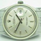 Rolex Vintage Datejust 1601 Steel With 18k White Gold Bezel...