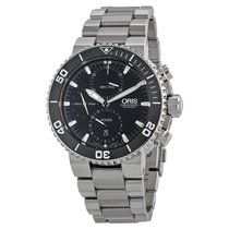 Oris Chronograph Automatic Black Dial Stainless Steel Men'...