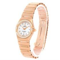 Omega Constellation 95 18k Rose Gold Diamond Watch 1167.75.00...
