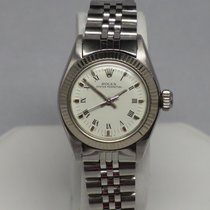 Rolex Vintage Oyster Perpetual 6719 Roman Dial W/ Gold Bezel 25mm